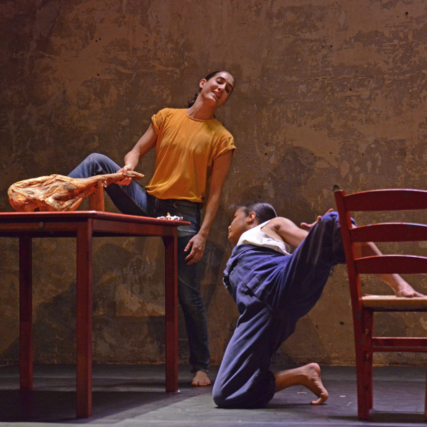 Marivi Da Silva and Antonette Dayrit in Carlos Pons Guerra's Young Man!.© Dave Morgan. (Click image for larger version)