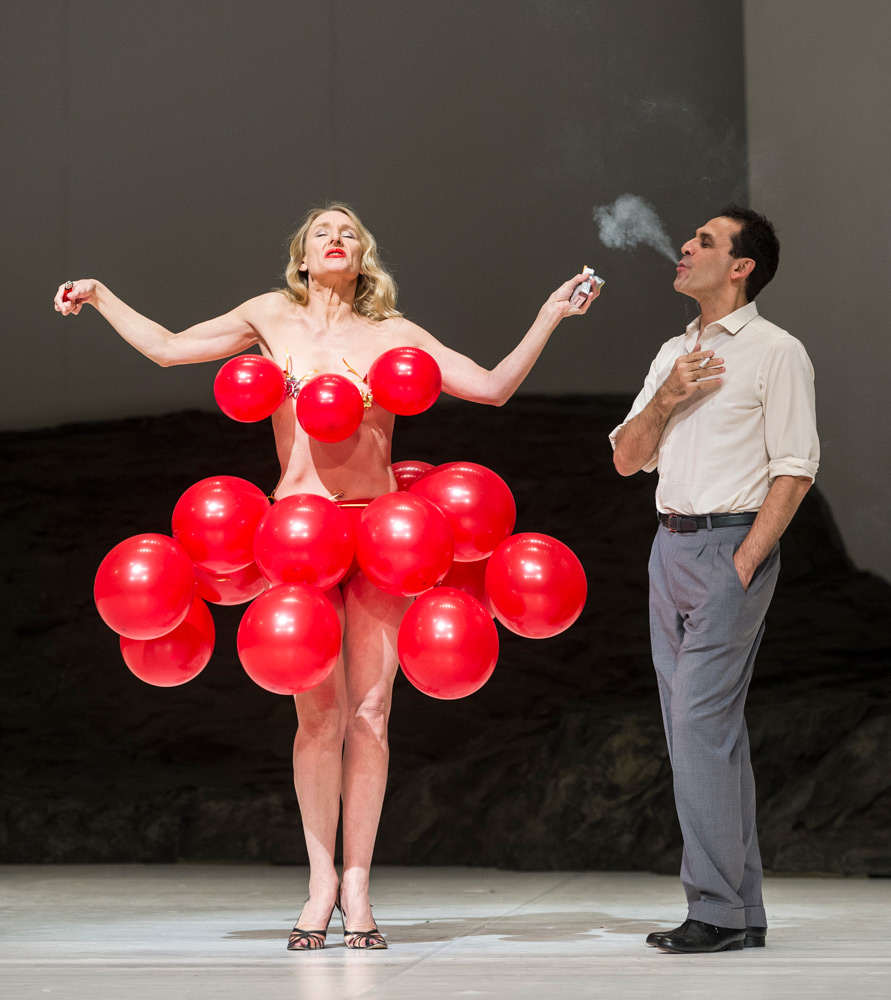 Julie Shanahan and Daphnis Kokkinos in Masurca Fogo.© Foteini Christofilopoulou. (Click image for larger version)