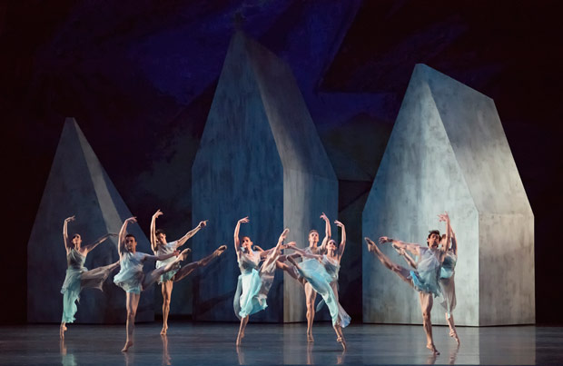 Miami City Ballet in <I>The Fairy's Kiss</I>. Choreography by Alexei Ratmansky.<br />© Gene Schiavone. (Click image for larger version)