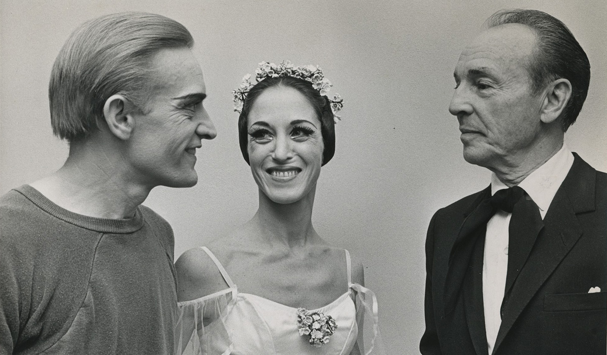 Robert Barnett and his wife Virginia with George Balanchine at Atlanta Ballet in 1968.Photo: uncredited, from the collection of Robert and Virginia Barnett. (Click image for larger version)