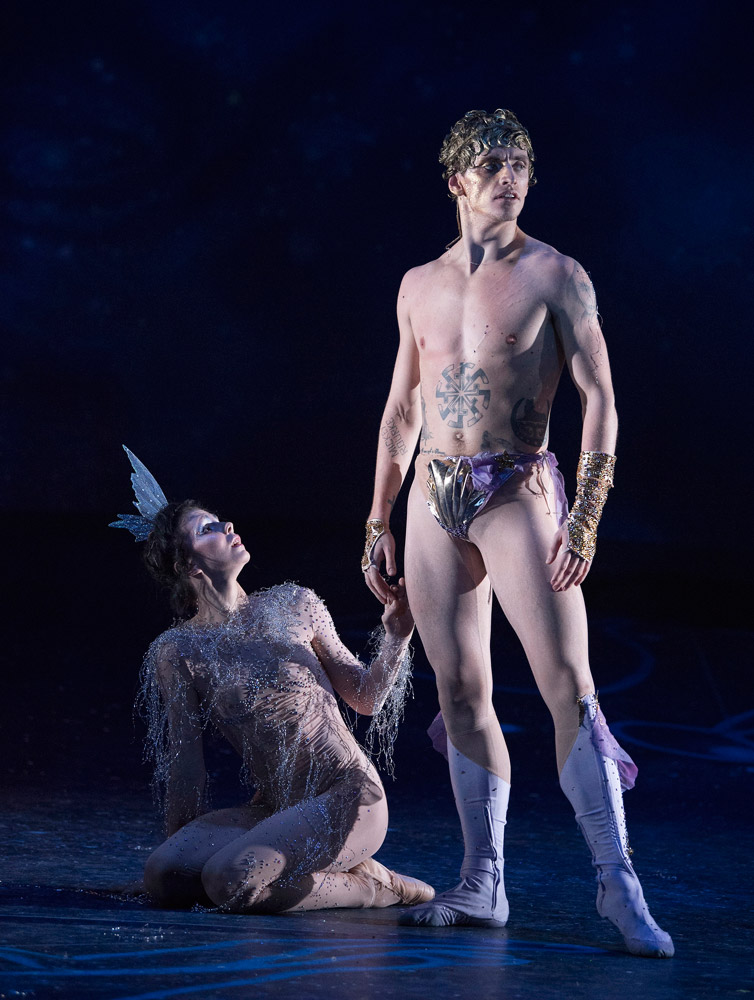 Sergei Polunin and Natalia Osipova in Narcissus and Echo.© Alastair Muir. (Click image for larger version)