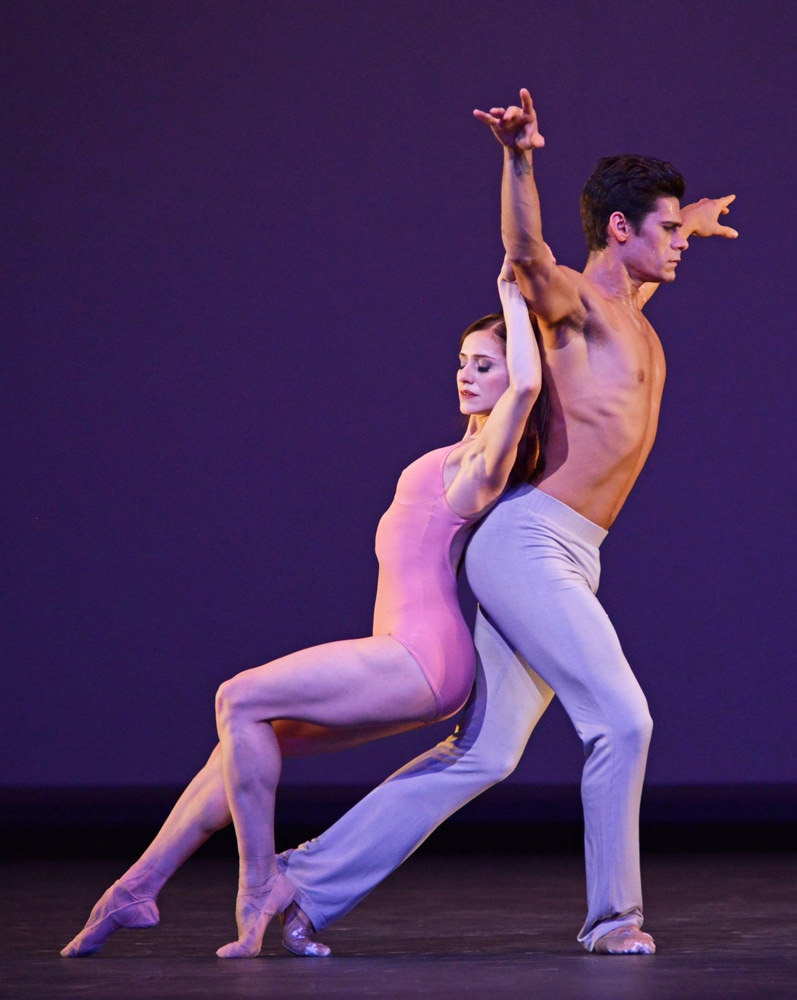 Marianela Nunez and Thiago Soares in Christopher Wheeldon's After the Rain.© Dave Morgan, courtesy the Royal Opera House. (Click image for larger version)