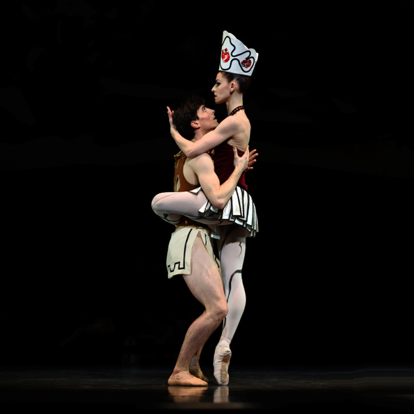 Sofiane Sylve and Joseph Walsh in Balanchine's Prodigal Son.© Erik Tomasson. (Click image for larger version)