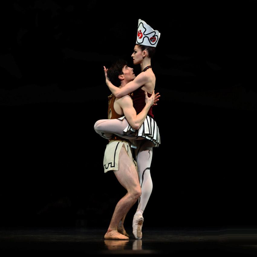 Sofiane Sylve and Joseph Walsh in Balanchine's Prodigal Son.© Erik Tomasson. (Click image for larger version)