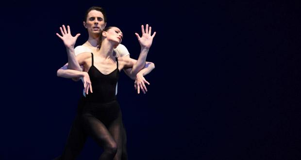 Sarah Van Patten and Luke Ingham in Balanchine's <I>Stravinsky Violin Concerto</I>.<br />© Erik Tomasson. (Click image for larger version)