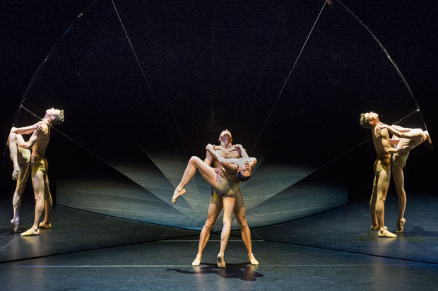 Company Wayne McGregor / Paris Opera Ballet in <I>Tree of Codes</I>.<br />© Foteini Christofilopoulou. (Click image for larger version)