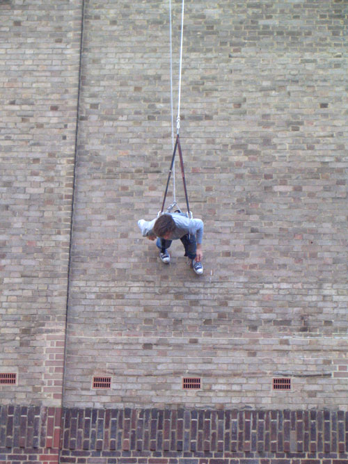 From May 2006 - Trisha Brown Dance Company at Tate Modern -<I>Man Walking Down the Side of a Building</I>.<br />© Graham Watts. (Click image for larger version)