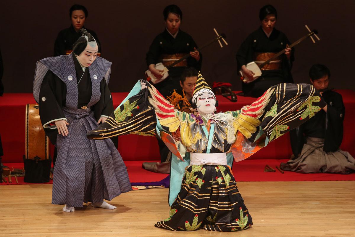 Geimaruza in Ayatsuri Sanbaso.© Julie Lemberger. (Click image for larger version)