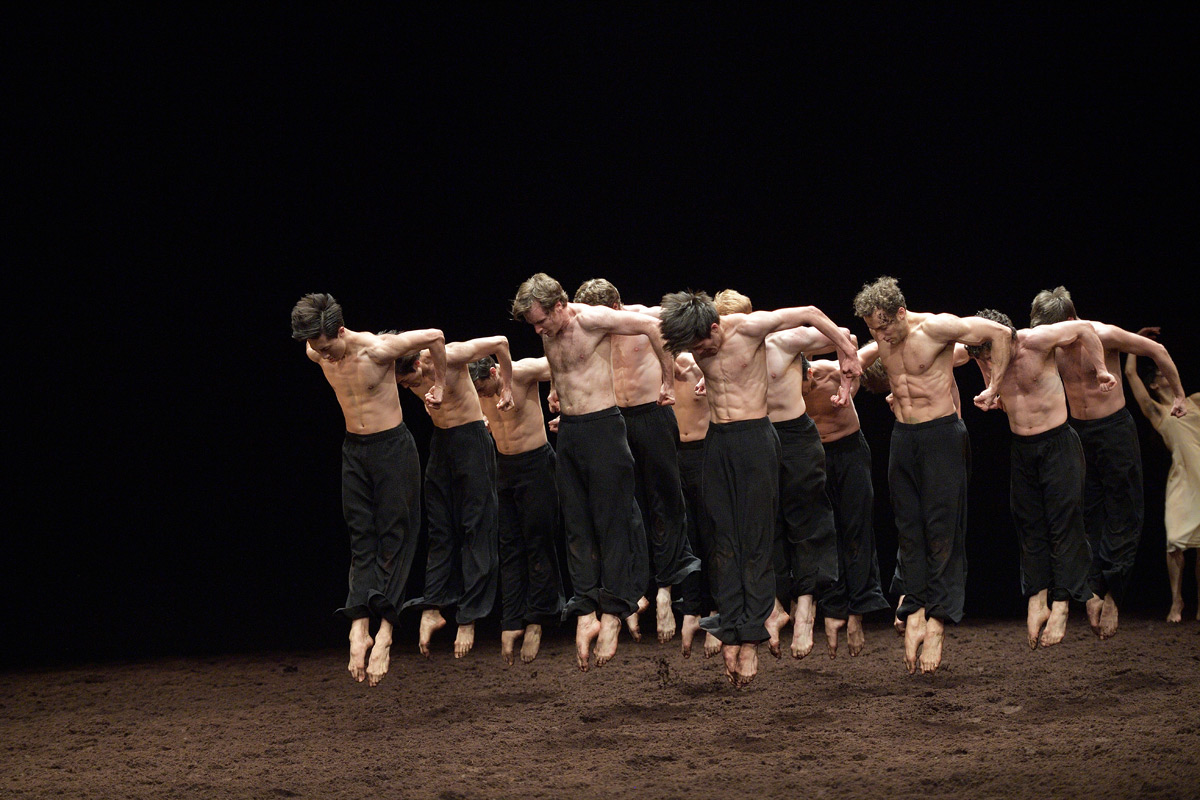 English National Ballet in Pina Bausch's <I>The Rite of Spring</I>.<br />© Laurent Liotardo. (Click image for larger version)