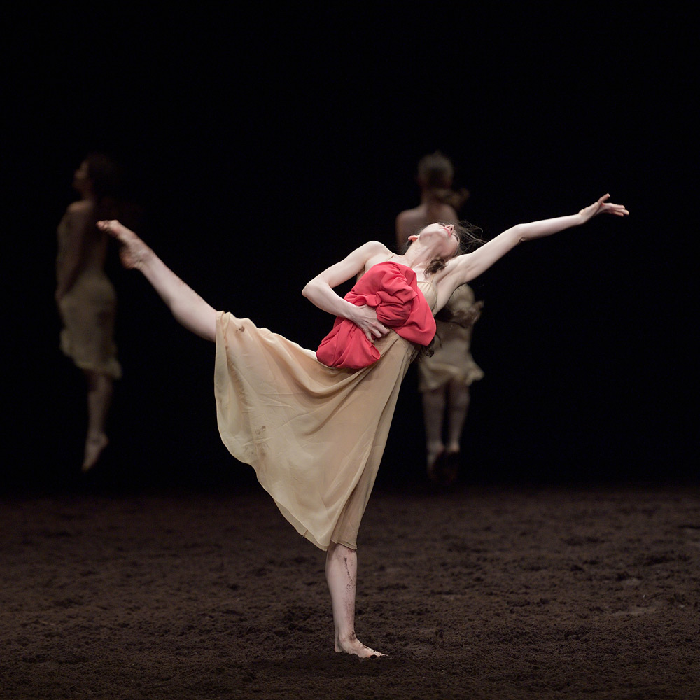English National Ballet in Pina Bausch's The Rite of Spring.© Laurent Liotardo. (Click image for larger version)