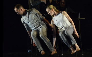 Wendy Whelan and Brian Brooks in Some of a Thousand Words.© Nir Arieli. (Click image for larger version)