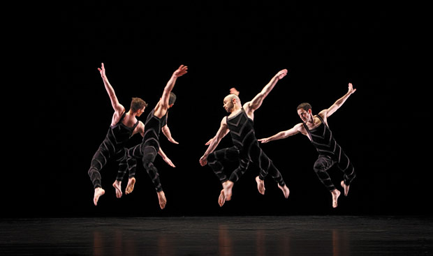 Paul Taylor Dance Company in <i>Promethean Fire</i>.<br />© Paul B. Goode. (Click image for larger version)