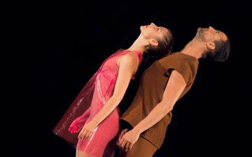 Anna Chirescu and Gianni Joseph in Place.© Charlotte Audureau. (Click image for larger version)