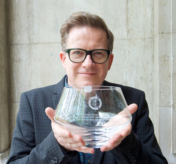 Sir Matthew Bourne with the Critics' Circle Award for Outstanding Services to the Arts.<br />© Elliott Franks. (Click image for larger version)