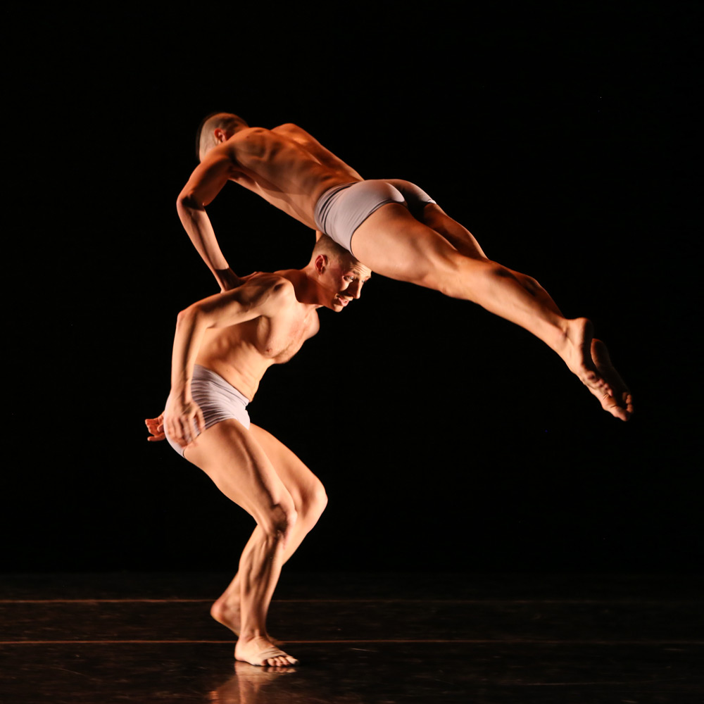 Nicholas Sciscione and Joshua Tuason in Untitled Touch.© Julie Lemberger. (Click image for larger version)