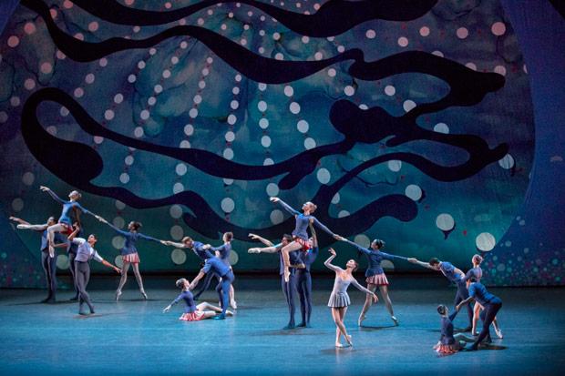 New York City Ballet in <I>American Rhapsody</I>.<br />© Paul Kolnik. (Click image for larger version)