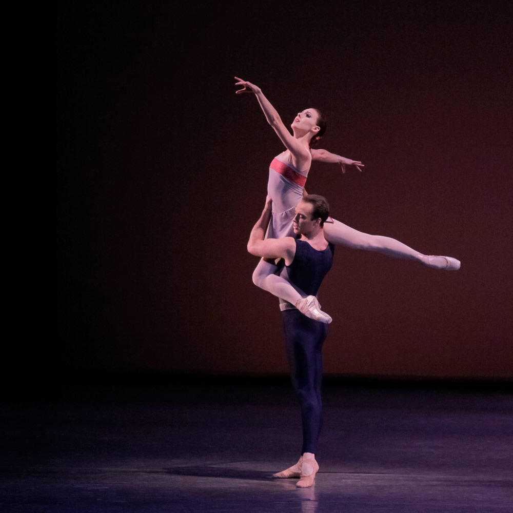 Tiler Peck and Tyler Angle in Mercurial Manoeuvres.© Paul Kolnik. (Click image for larger version)
