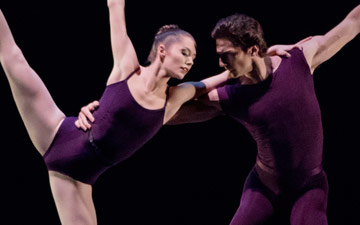 Unity Phelan and Zachary Catazaro in Polyphonia.© Paul Kolnik. (Click image for larger version)