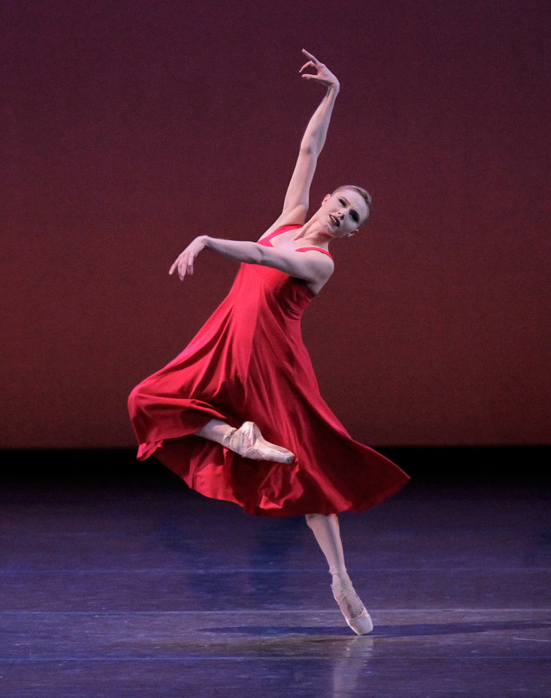 Sara Mearns in <I>Russian Seasons</I>.<br />© Paul Kolnik. (Click image for larger version)