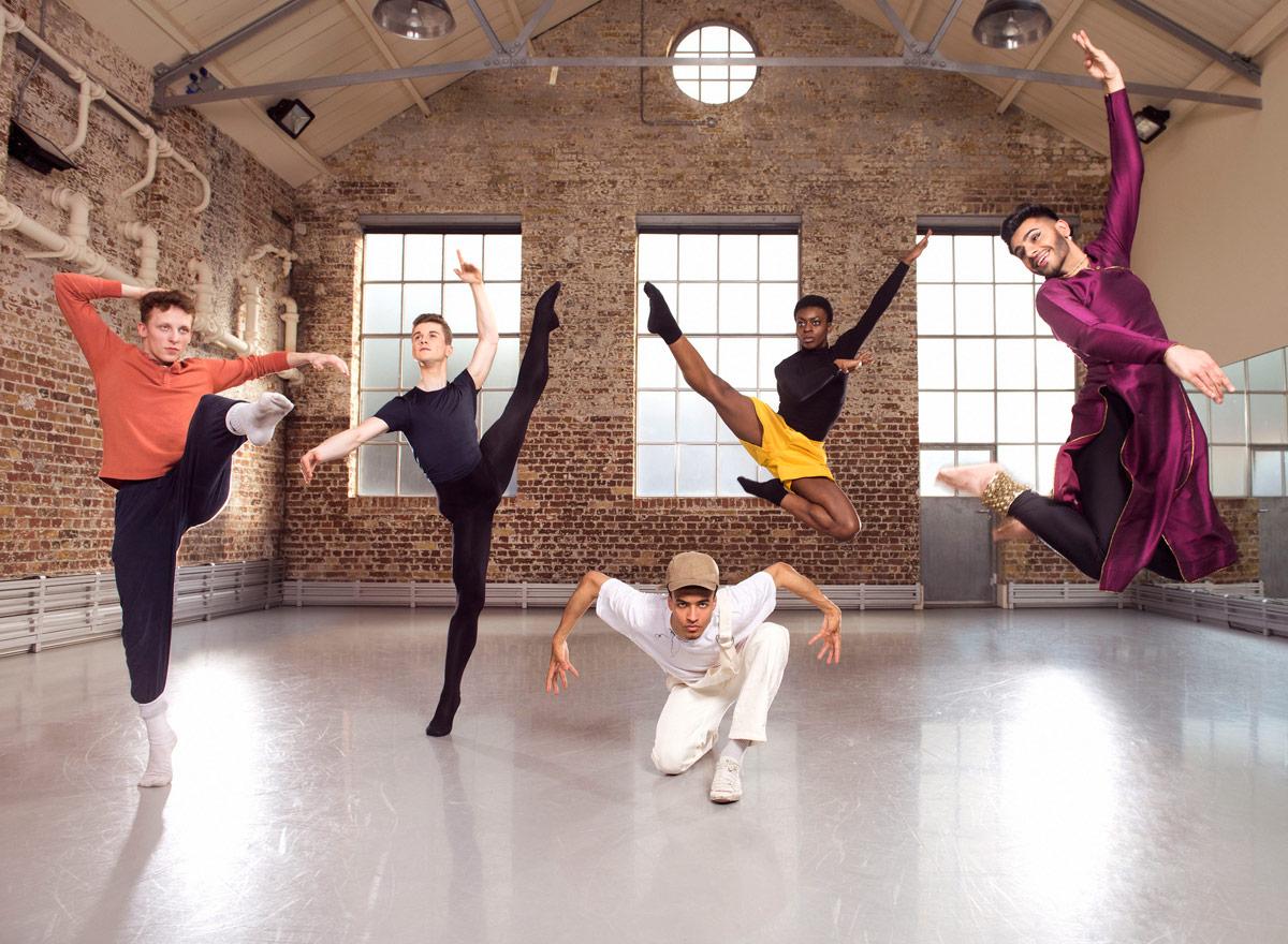 BBC Young Dancer Award 2017: John-William Watson, Rhys Antoni Yeomans, Jodelle Douglas, Nafisah Baba and Shyam Dattani.© BBC/Ray Burmiston. (Click image for larger version)
