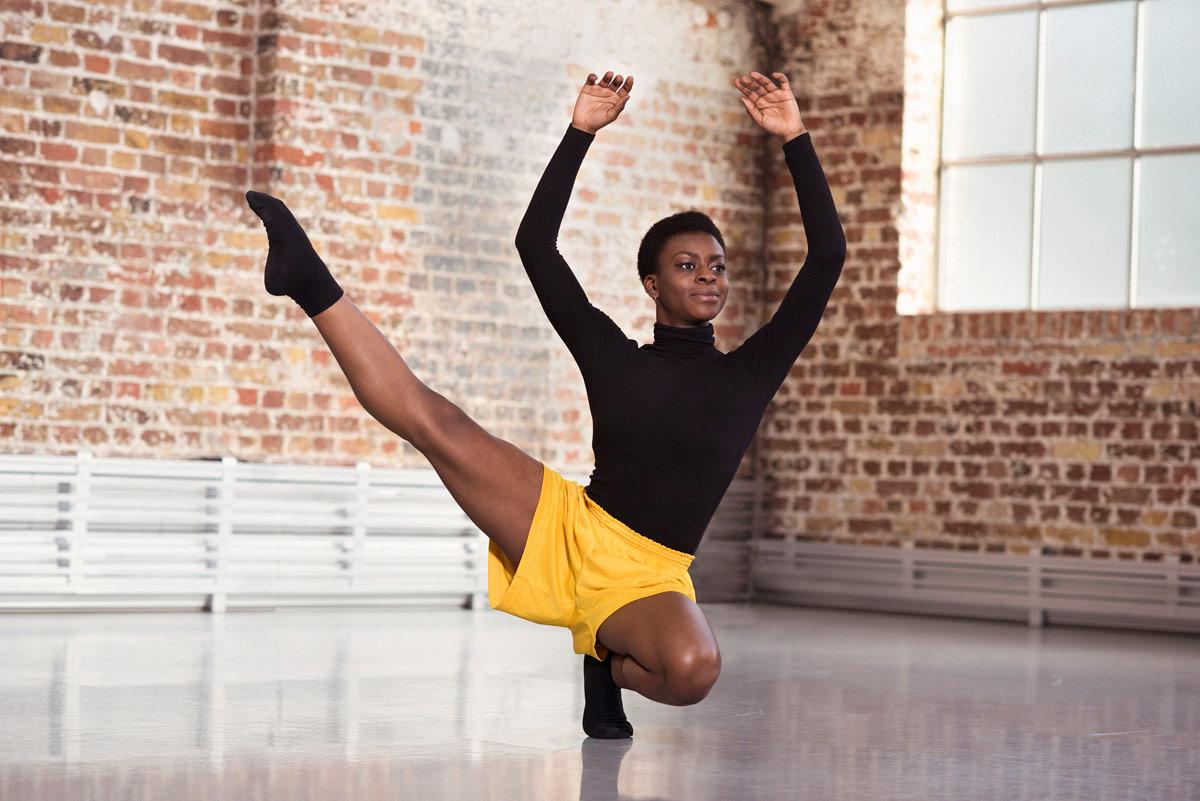 BBC Young Dancer Award 2017: winner Nafisah Baba in the studio.© BBC/Ray Burmiston. (Click image for larger version)