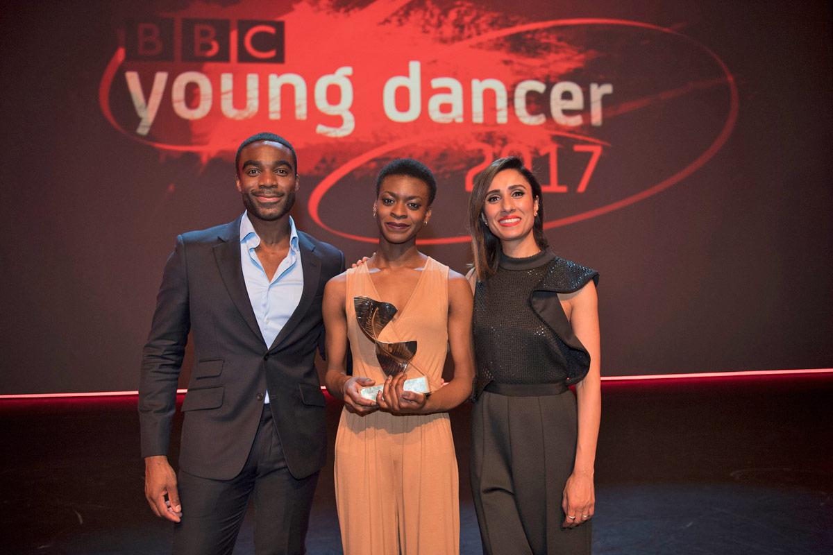 BBC Young Dancer Award 2017:  Ore Oduba, Nafisah Baba and Anita Rani .<br />© BBC/Tristram Kenton. (Click image for larger version)