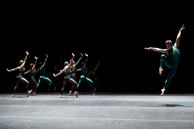 Washington Ballet in Forsythe's <I>In the Middle, Somewhat Elevated</I>.<br />© Theo Kossenas Media 4 Artists. (Click image for larger version)