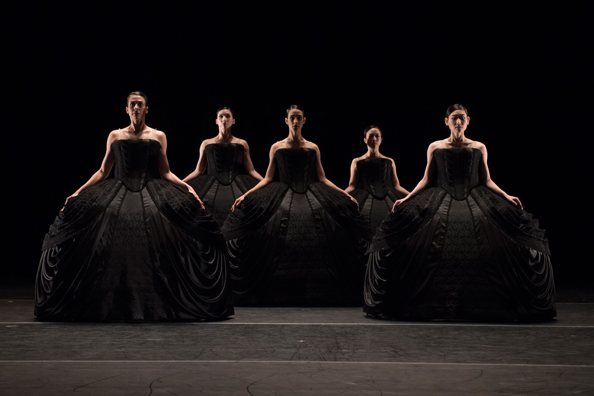 Washington Ballet in Kylián's Petite Mort.© Theo Kossenas Media 4 Artists. (Click image for larger version)