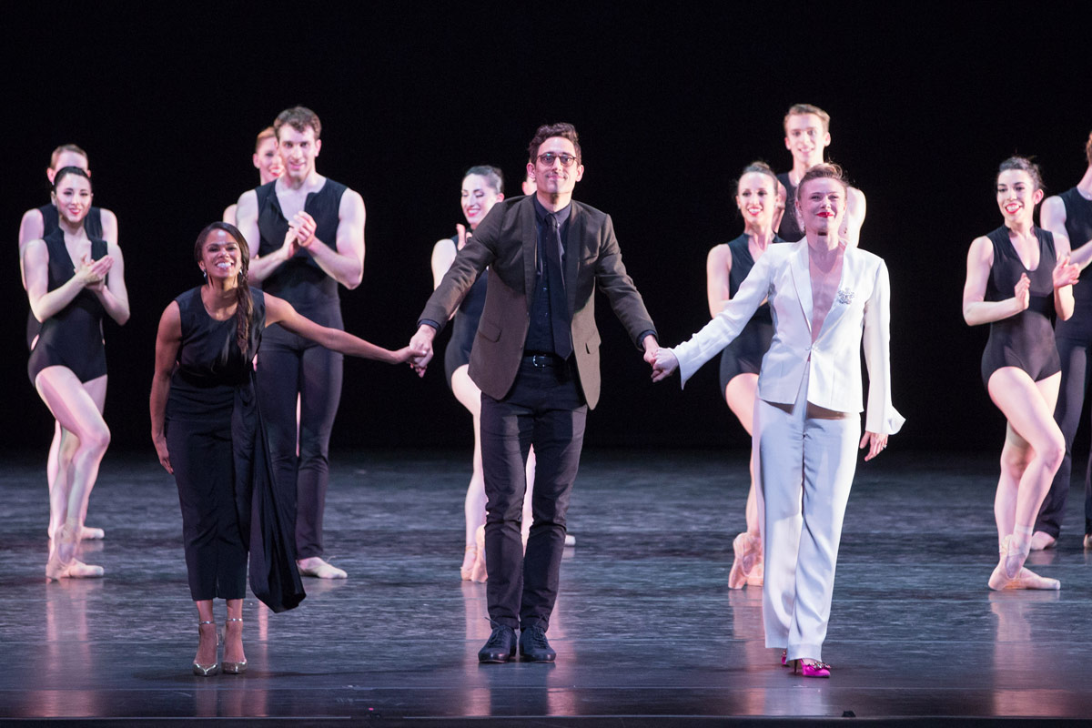 Curators Misty Copeland and Justin Peck, with host Sara Mearns and Nashville Ballet.© Teresa Wood. (Click image for larger version)