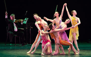 Students of ABT's Jacqueline Kennedy Onassis School in Garden of Dreams.© Teresa Wood. (Click image for larger version)