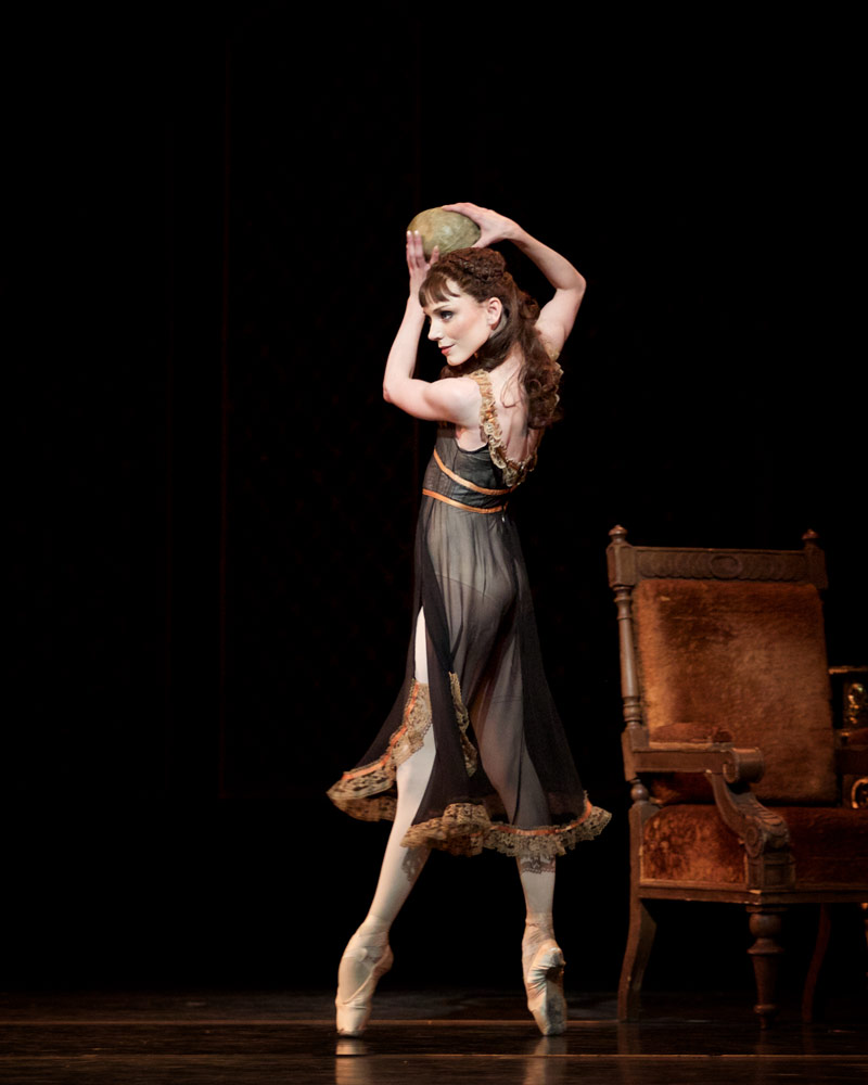 Sarah Lamb as Mary Vetsera in Mayerling.© Alice Pennefather, courtesy the Royal Opera House. (Click image for larger version)