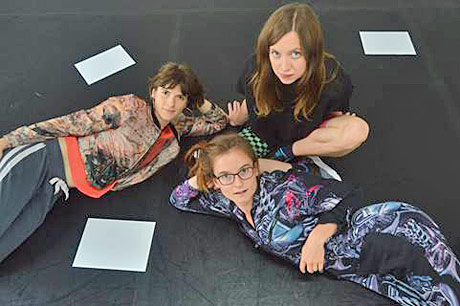 Nora's Artistic Directors: Flora Wellesley Wesley, Eleanor Sikorski and Stephanie McMann.© Camilla Greenwell. (Click image for larger version)