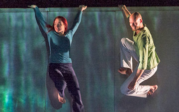 Rebecca Williams and Alasdair Stewart in Scattered.© Foteini Christofilopoulou. (Click image for larger version)