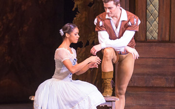 Misty Copeland and Alban Lendorf in Giselle.© Khalid Al-Busaidi. (Click image for larger version)