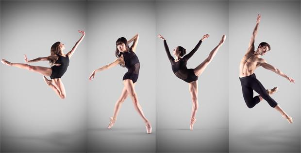 Interviewed - Isabelle Brouwers, Rina Kanehara, Madison Keesler and Guilherme Menezes - 4 of the 6 Emerging Dancer 2017 finalists.<br />© Laurent Liotardo. (Click image for larger version)