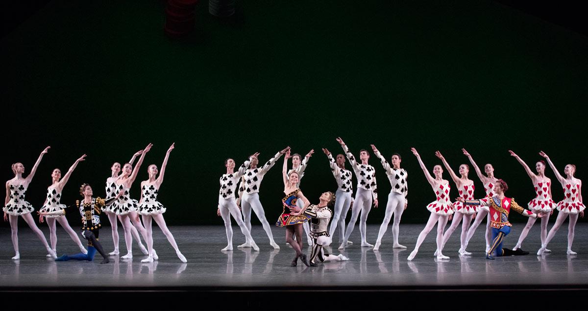 New York City Ballet in <I>Jeu de Cartes</I>.<br />© Paul Kolnik. (Click image for larger version)