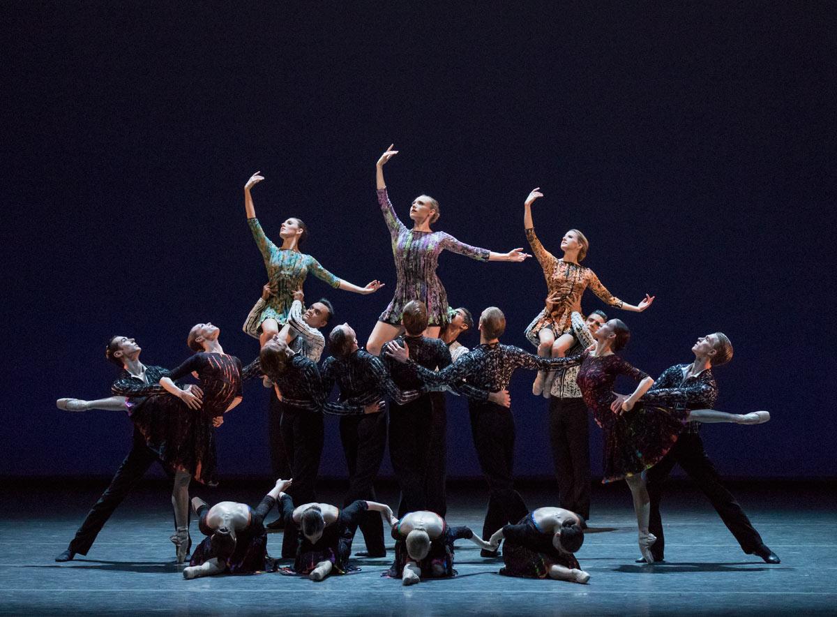 New York City Ballet in <I>Odessa</I>.<br />© Paul Kolnik. (Click image for larger version)