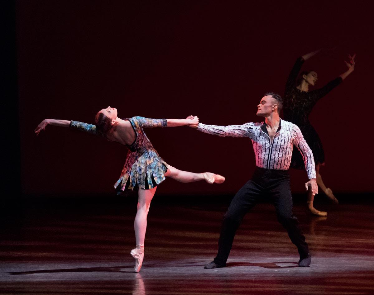 Tiler Peck and Taylor Stanley in <I>Odessa</I>.<br />© Paul Kolnik. (Click image for larger version)