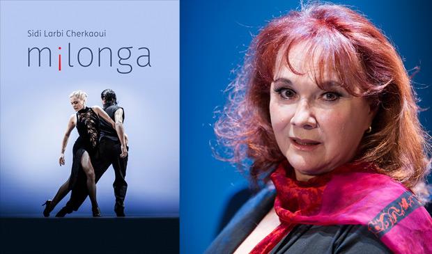 Nelida Rodriguez de Aure and <I>m¡longa</I> poster image.<br />© Tristram Kenton. (Click image for larger version)