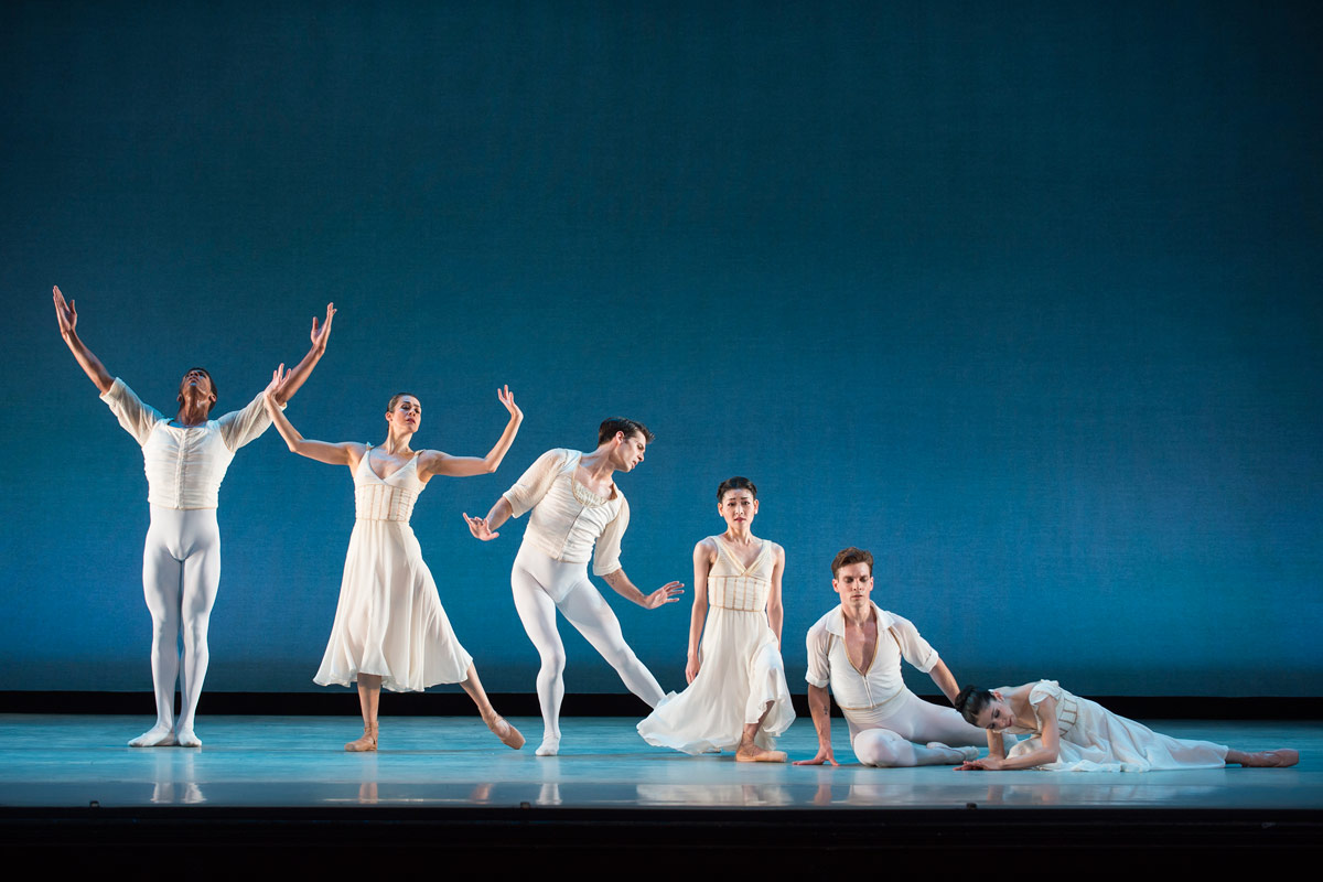 Washington Ballet in <I>Seven Sonatas</I>.<br />© Theo Kossenas Media 4 Artists. (Click image for larger version)