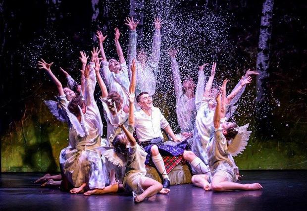 Ballet Central in Matthew Bourne's <I>Highland Fling</I>.<br />© Bill Cooper. (Click image for larger version)