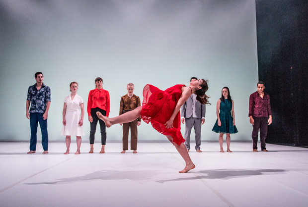 Scottish Dance Theatre in Anton Lachky's <I>Dreamers</I>.<br />© Brian Hartley. (Click image for larger version)