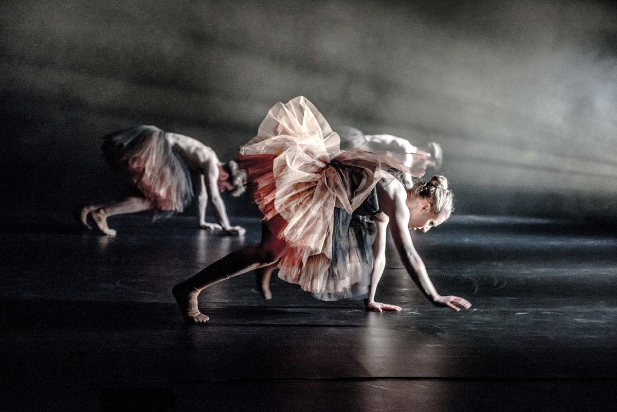 Scottish Dance Theatre in Botis Seva's TuTuMucky.© Brian Hartley. (Click image for larger version)