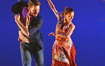 Nicholas Shikkis, Nancy Nerantzi, Ihsaan de Banya, Elly Braund and Nicholas Bodych in Gypsy Mixture.© Dave Morgan. (Click image for larger version)