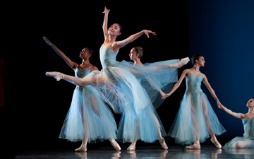 San Francisco Ballet School students in Balanchine's Serenade.© Erik Tomasson. (Click image for larger version)