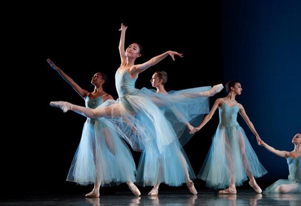 San Francisco Ballet School students in Balanchine's <I>Serenade</I>.<br />© Erik Tomasson. (Click image for larger version)