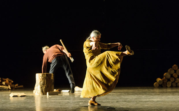 Ana Laguna and Yvan Auzely in Mats Ek's Axe.© Foteini Christofilopoulou. (Click image for larger version)