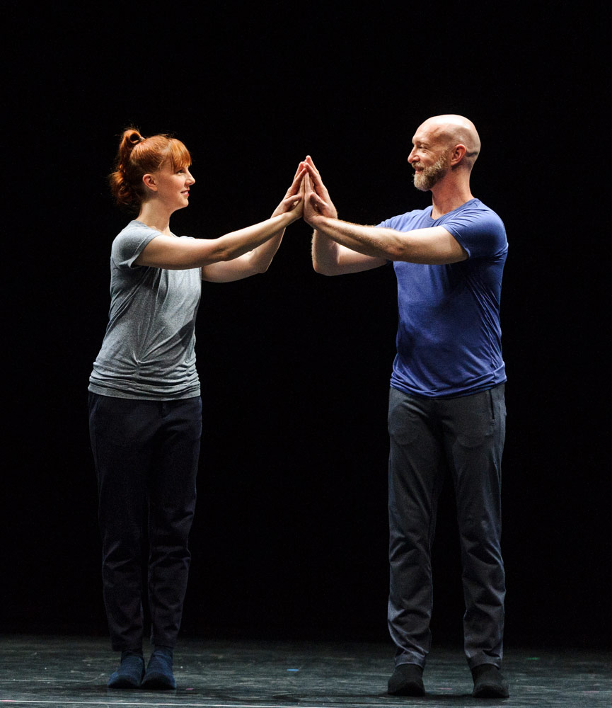 Jill Johnson and Christopher Roman in William Forsythe's <I>Catalogue (First Edition)</I>.<br />© Foteini Christofilopoulou. (Click image for larger version)