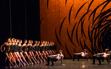 Scottish Ballet in Crystal Pite's Emergence.© Foteini Christofilopoulou. (Click image for larger version)
