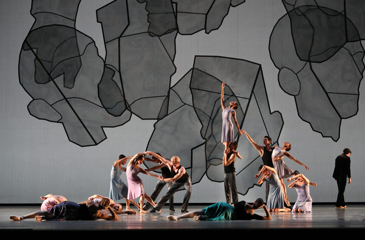 Dutch National Ballet in the Chamber Symphony section of Shostakovich Trilogy.© Hans Gerritsen. (Click image for larger version)